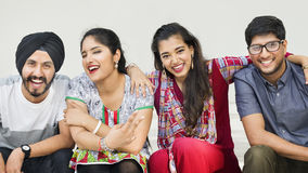 Indian Ethnicity Friendship Togetherness Concept Royalty Free Stock Photography