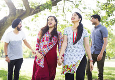 Indian Ethnicity Friendship Togetherness Concept Stock Photography