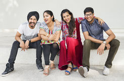 Indian Ethnicity Friendship Togetherness Concept Royalty Free Stock Image