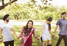 Indian Ethnicity Friendship Togetherness Concept Stock Photos