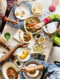 Indian Ethnicity Meal Food Casual Society Concept Stock Images