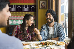 Indian Ethnicity Meal Food Roti Naan Curry Concept Royalty Free Stock Photo