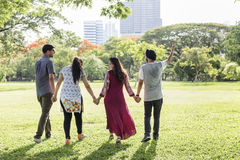 Indian Ethnicity Park Companionship Friend Concept royalty free stock image
