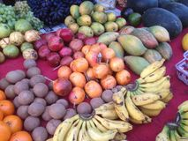 Indian exotic fruits. On the market royalty free stock photos