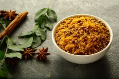 Indian extruded spicy snack- dal biji, stock photos