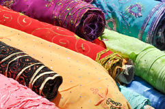Indian Fabric. Traditional Indian Fabric used to make Sari Stock Images