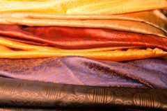 Indian fabric Royalty Free Stock Image