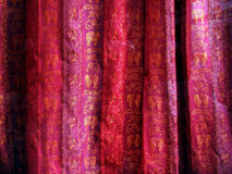 Indian fabric. Indian purple fabric royalty free stock photos
