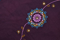 Indian fabric detail Royalty Free Stock Photo