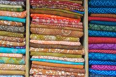 Indian Fabric for Sale at Market. Indian Fabric to make Sari for Sale at Market Stock Images