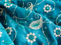 Indian fabric texture Royalty Free Stock Photography