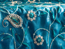Indian fabric texture stock images