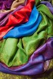 Indian fabrics Royalty Free Stock Photos