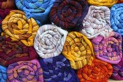Indian fabrics Stock Image