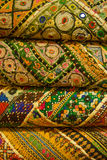 Indian fabrics Royalty Free Stock Photos