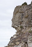 Indian face. Rocky coast, small island in Kesselaid, Estonia. The Baltic sea Royalty Free Stock Photo