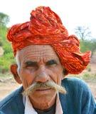 Indian face. Indian rural man face closeup Royalty Free Stock Photo
