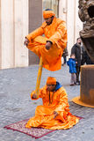 Indian fakirs in street performance Royalty Free Stock Image