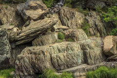 Indian Falls rock formations Royalty Free Stock Photography