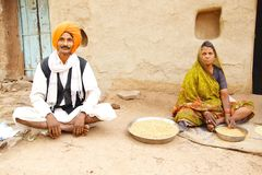 Indian family. Royalty Free Stock Image