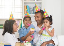 Indian family birthday celebration Stock Photos