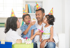 Indian family birthday celebration Royalty Free Stock Photo