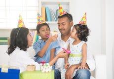 Indian family birthday celebration Royalty Free Stock Photo