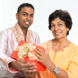 Indian family celebrate birthday Stock Image