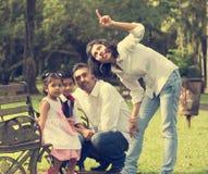 Indian family enjoying quality time Stock Photo