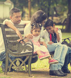 Indian family enjoying quality time stock photos