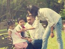 Indian family enjoying quality time Stock Photography