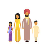 Indian Family Four People Parents Two Children Stock Image