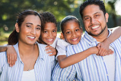 Indian family fun together Stock Photo