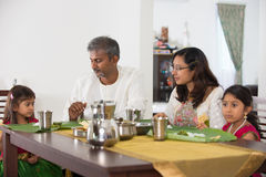 Indian family. Having a meal stock photo