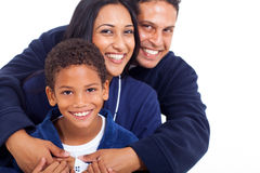 Indian family hugging Royalty Free Stock Images