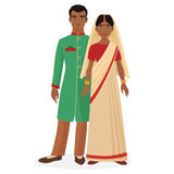 Indian family. Indian man and woman couple in traditional national clothes. Royalty Free Stock Image