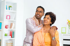 Indian family looking away Stock Images