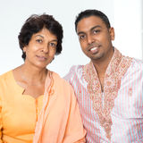 Indian family mother and son Royalty Free Stock Photography