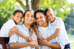 Indian family park Stock Image