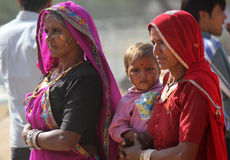 Indian family at Pushkar fair Stock Photography