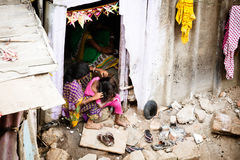 Indian Family in a Slum Royalty Free Stock Photography