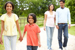 Indian Family Walking In Countryside Royalty Free Stock Images