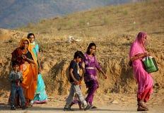 Indian family walking Stock Photo