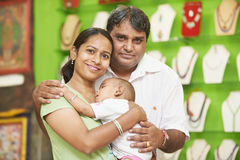 Indian family woman man and child boy Royalty Free Stock Images