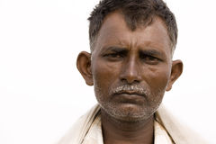 Indian Farmer's portrait Stock Photo