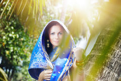 Indian fashion in sari Stock Photography