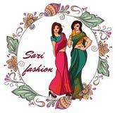 Indian fashion set Royalty Free Stock Images