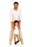 Indian father boy Royalty Free Stock Images