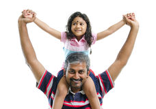 Indian father and daughter Royalty Free Stock Image