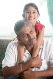 Indian father and daughter Royalty Free Stock Images